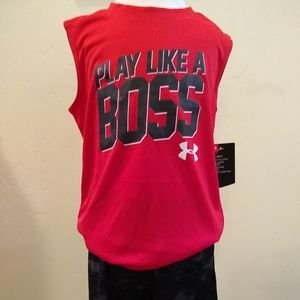 Under Armour Muscle Tee & Short Set Boys Size 5